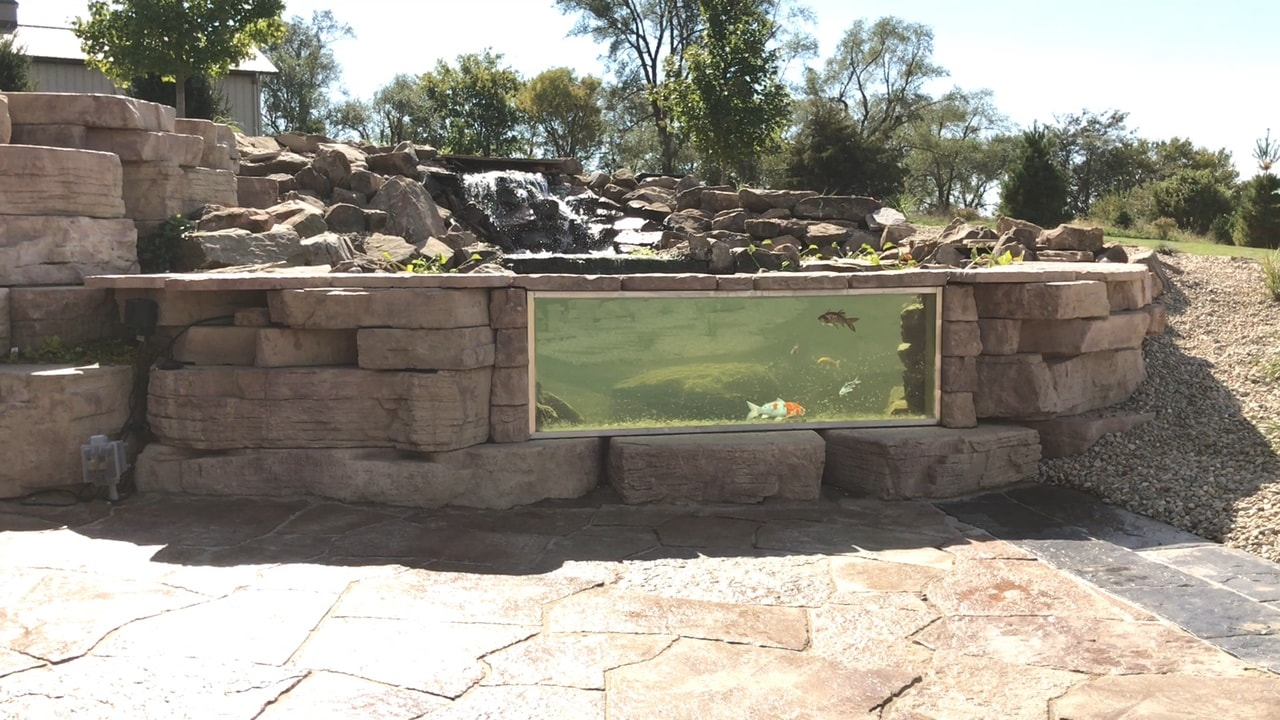 pond frame window installation pond in USA beatiful