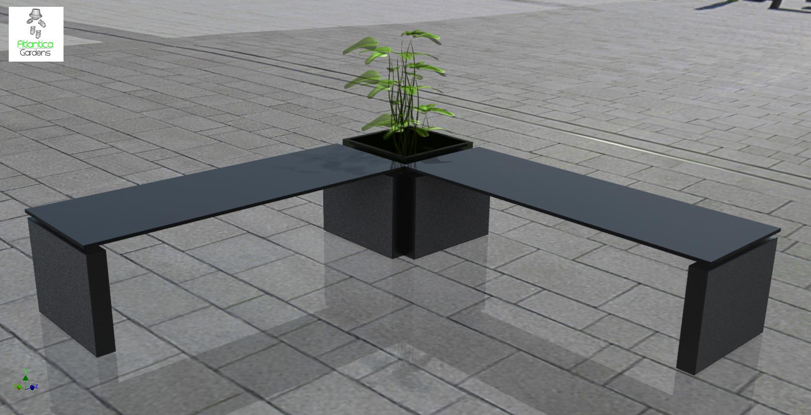 Modern Garden Bench Atlantica Gardens