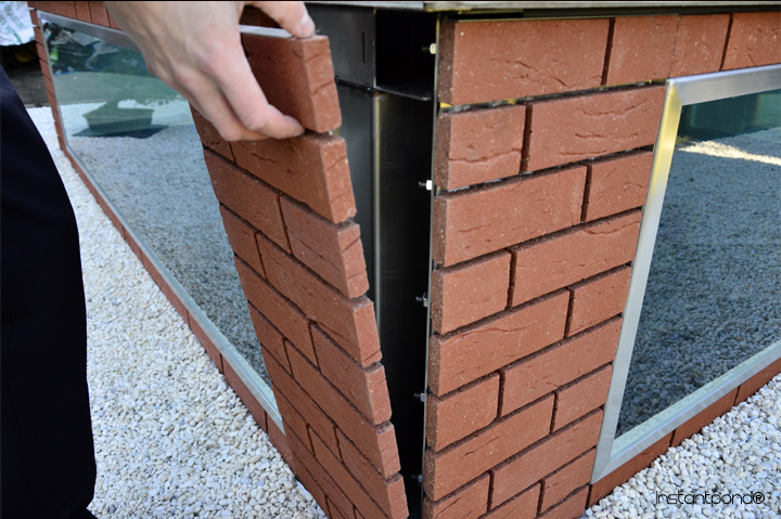 attach brick slips
