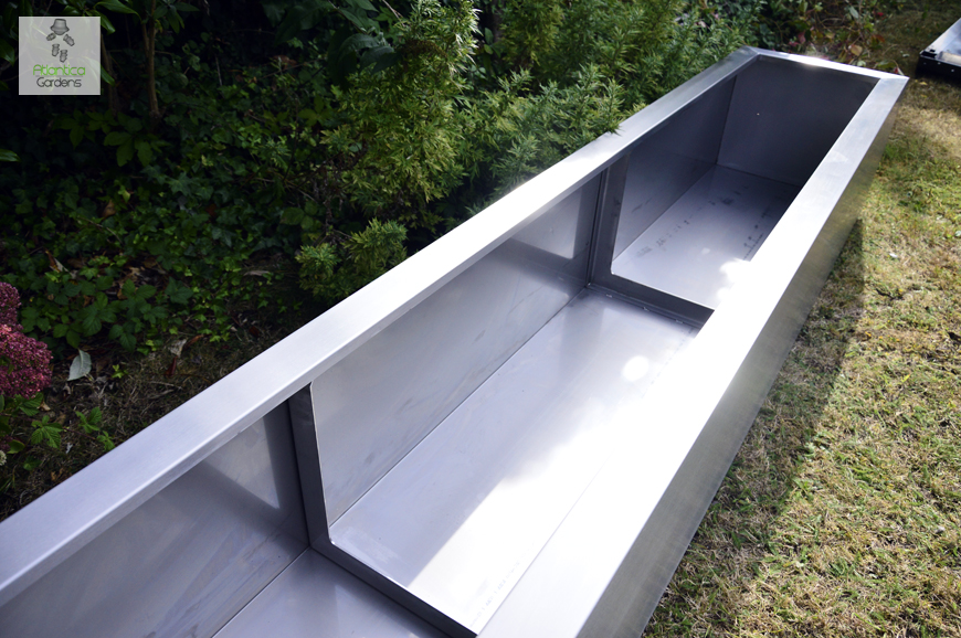 Large Planter 6 Meters Long. Comprising Of 3 Sections. Without Back Edge.