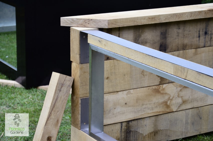 Fixings For Railway Sleeper Pond Kit With Window 316 Stainless Steel